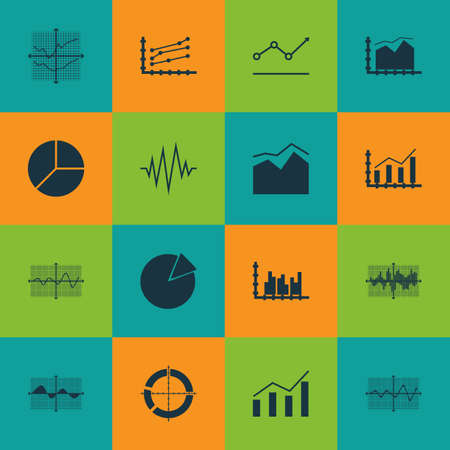 Set Of Graphs, Diagrams And Statistics Icons. Premium Quality Symbol Collection. Icons Can Be Used For Web, App And UI Design. Imagens - 78428238
