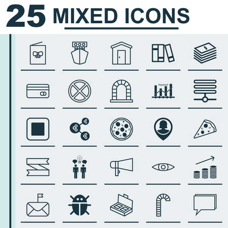 Set Of 25 Universal Editable Icons. Can Be Used For Web, Mobile And App Design. Includes Elements Such As Algorithm Illustration, Arch, Keyword Optimisation And More.