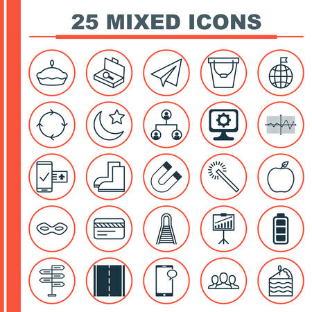 rejected: Set Of 25 Universal Editable Icons. Can Be Used For Web, Mobile And App Design. Includes Elements Such As Startup, Attraction, Nectarine And More. Illustration