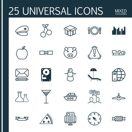 associative: Set Of 25 Universal Editable Icons. Can Be Used For Web, Mobile And App Design. Includes Elements Such As Sweet Berry, Chemical, Aperitif And More.