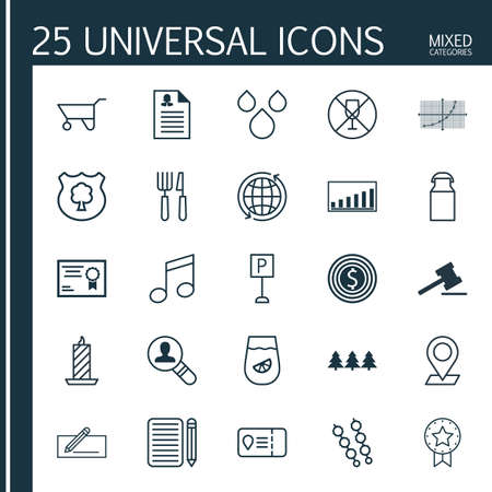 rubbish cart: Set Of 25 Universal Editable Icons. Can Be Used For Web, Mobile And App Design. Includes Elements Such As Pinpoint, Holiday Ornament, Gavel And More.