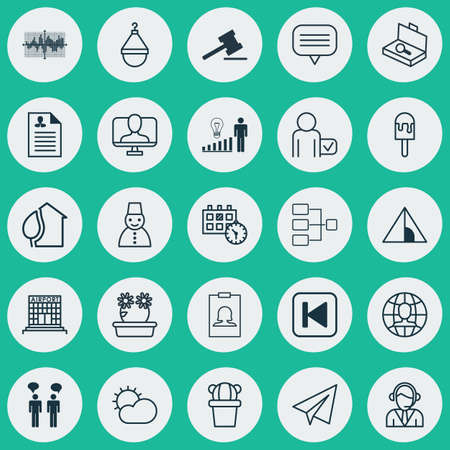 Set Of 25 Universal Editable Icons. Can Be Used For Web, Mobile And App Design. Includes Elements Such As Hanger, Online Identity, Globetrotter And More.