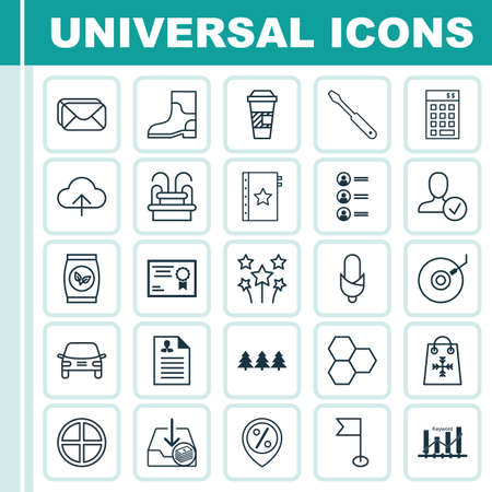 addition: Set Of 25 Universal Editable Icons. Can Be Used For Web, Mobile And App Design. Includes Elements Such As Discount Location, Confirm Profile, Investment And More. Illustration