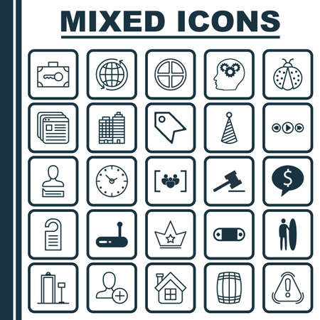 addition: Set Of 25 Universal Editable Icons. Can Be Used For Web, Mobile And App Design. Includes Elements Such As Hotel, Music Control, Radio Set And More.