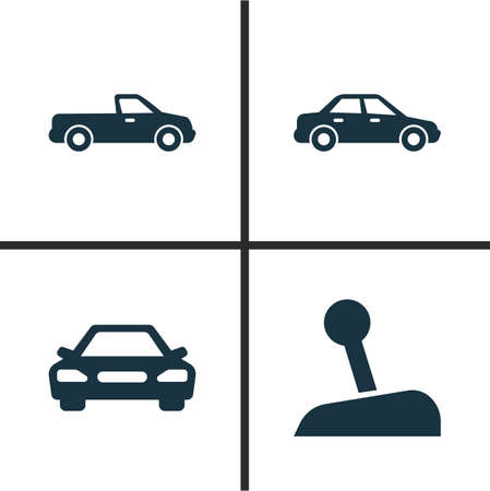 camion: Car Icons Set. Collection Of Stick, Automobile, Carriage And Other Elements. Also Includes Symbols Such As Carriage, Automobile, Car. Illustration