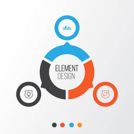 Eco-friendly icons set. Illustration