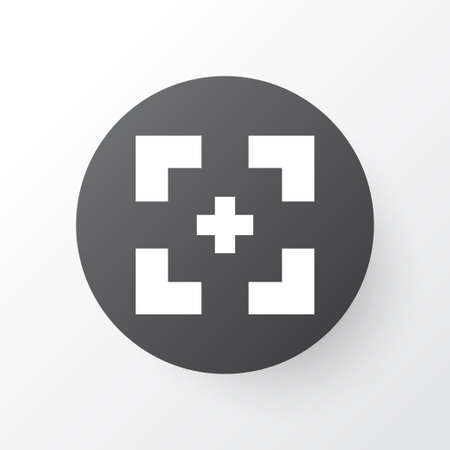 extensive: Full Screen Icon Symbol. Premium Quality Isolated Target Element In Trendy Style.