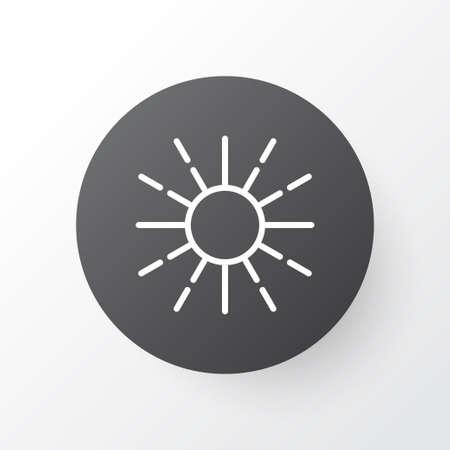 明るさ調節アイコンのシンボル。プレミアム品質は、トレンディなスタイルの明るさモードの要素を分離しました。