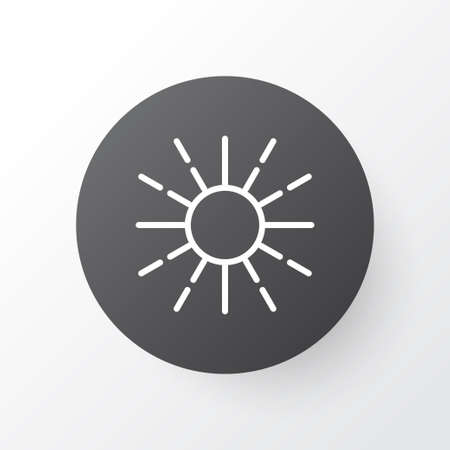 밝기 조절 아이콘 기호. 트렌디 한 스타일의 프리미엄 품질 분리 된 밝기 모드 요소.