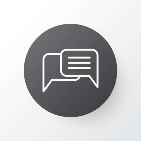 Messaging Icon Symbol. Premium Quality Isolated Chatting Element In Trendy Style. Illustration