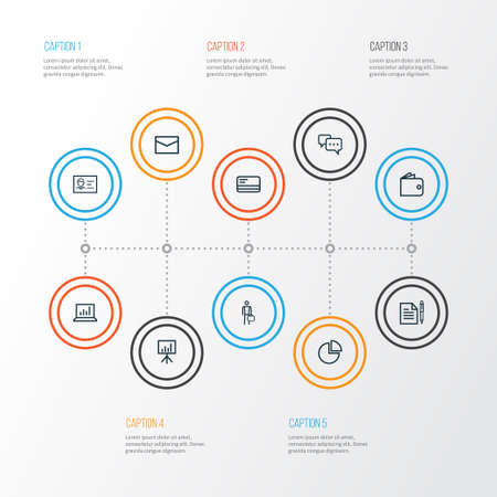Business Outline Icons Set: Collection Of Businessman, Statistics, Circle Graph And Other Elements. Also Includes Symbols Such As Wallet, Pie, Diagram.