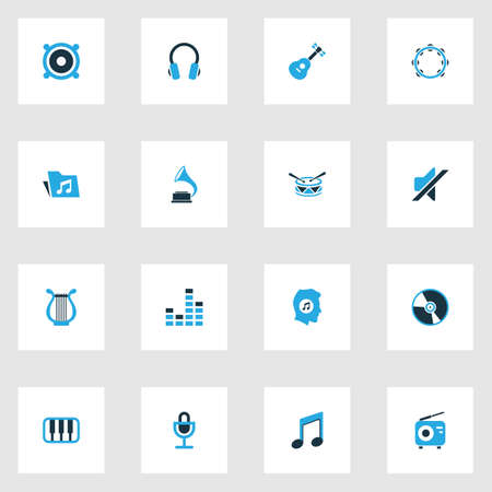 mp3: Music Colorful Icons Set. Collection Of Music Lover, Piano, Mixer And Other Elements. Also Includes Symbols Such As Microphone, Note, Meloman.