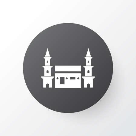 Mecca Icon Symbol. Premium Quality Isolated Hejaz Element In Trendy Style. Illustration