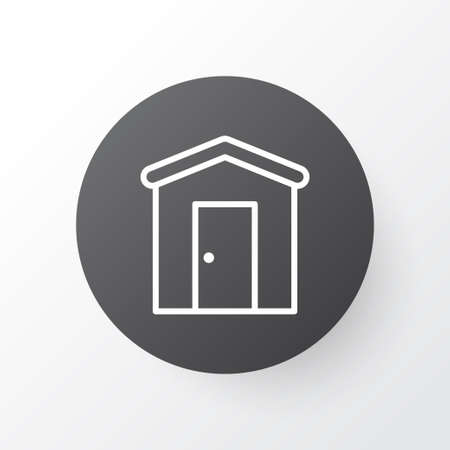 shed: Barn Icon Symbol. Premium Quality Isolated Farmhouse Element In Trendy Style.