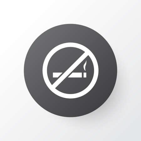 Rook geen pictogramsymbool. Premiumkwaliteit geïsoleerd sigaretten verboden element in trendy stijl.