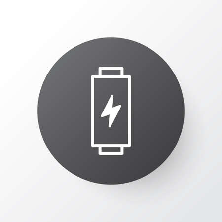 Battery Icon Symbol. Premium Quality Isolated Charge Element In Trendy Style.