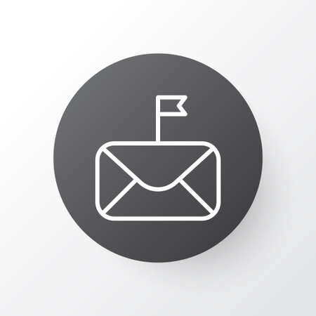starboard: Important Mail Icon Symbol. Premium Quality Isolated Significant Element In Trendy Style.