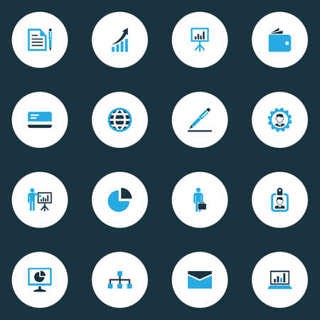 Job Colorful Icons Set. Collection Of Local Area, Globe, Wallet And Other Elements. Also Includes Symbols Such As Billfold, Worker, Mail. Illustration