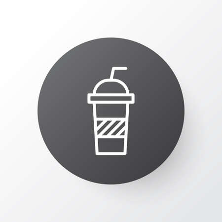 Soft Drink Icon Symbol. Premium Quality Isolated Soda Element In Trendy Style.