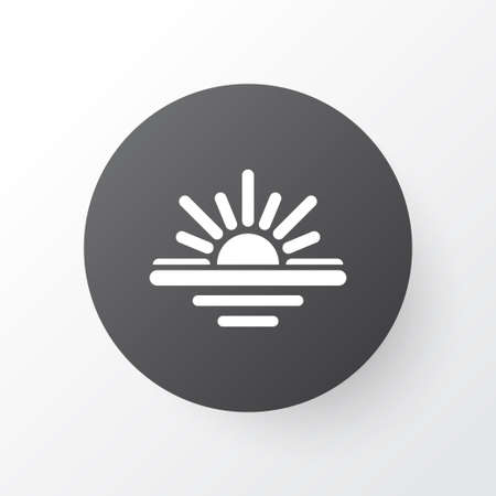 Maghrib Icon Symbol. Premium Quality Isolated Abend Element In Trendy Style. Illustration