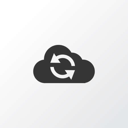 upgrade: Synchronize Icon Symbol. Premium Quality Isolated Cloud Element In Trendy Style.