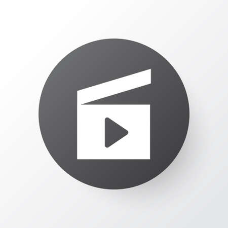 Clapperboard Icon Symbol. Premium Quality Isolated Cinema Clap Element In Trendy Style. Illusztráció