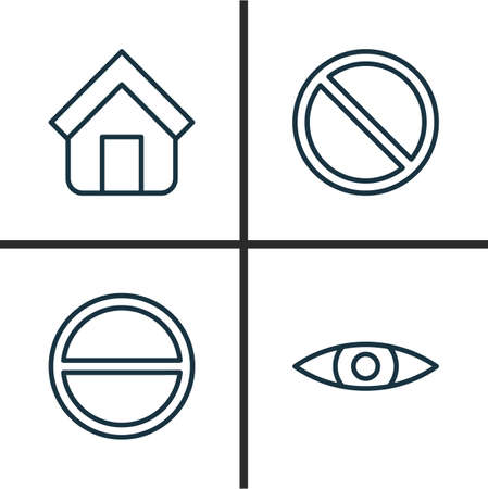 tabernacle: Network Icons Set. Collection Of Refuse, Obstacle, Estate And Other Elements. Also Includes Symbols Such As Tabernacle, Browse, Block.