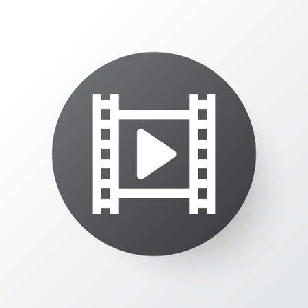 Cinema Icon Symbol. Premium Quality Isolated Movie Element In Trendy Style.