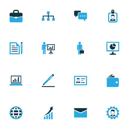 Trade Colorful Icons Set. Collection Of Authentication, Contract, Badge And Other Elements Illustration
