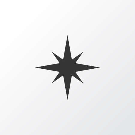 Qiblah Icon Symbol. Premium Quality Isolated Direction  Element In Trendy Style.