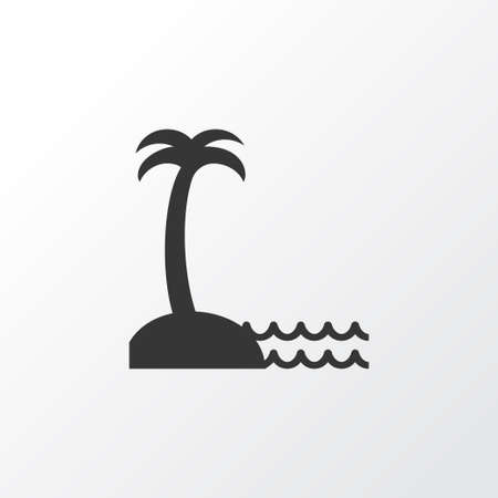 a bathing place: Seaside Place Icon Symbol