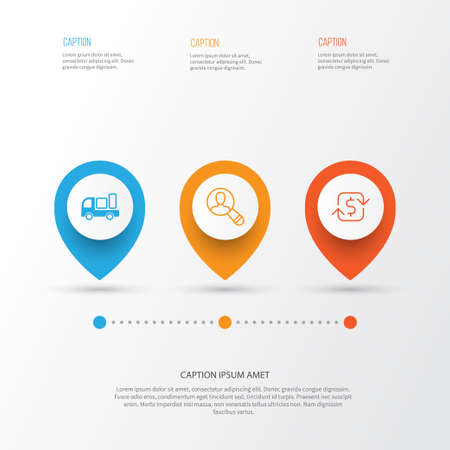 Ecommerce Icons Set. Collection Of Recurring Payements, Delivery, Spectator And Other Elements Illustration