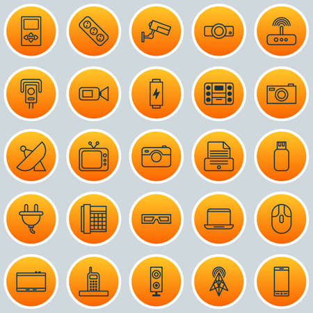 Hardware Icons Set Collection Of Antenna Usb Switch And Other Royalty Free Cliparts Vectors And Stock Illustration Image 82405916