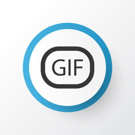Animation Icon Symbol. Premium Quality Isolated Gif Sticker Element In Trendy Style.