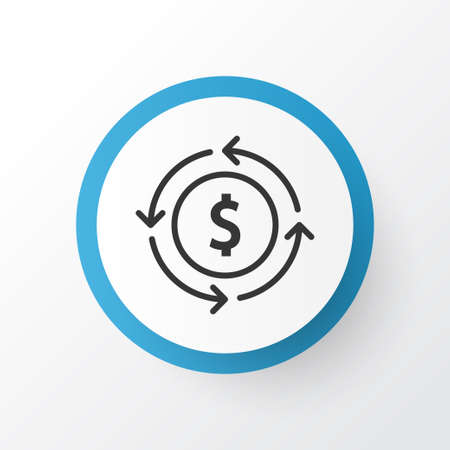 Currency Interchange Icon Symbol. Premium Quality Isolated Finance Element In Trendy Style.
