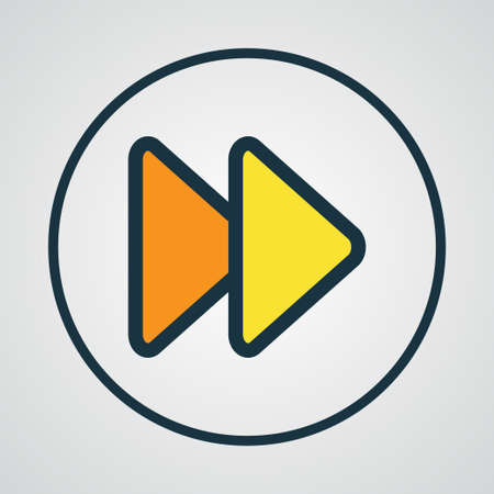 media player: Fast Forward Colorful Outline Symbol. Premium Quality Isolated Next Element In Trendy Style.