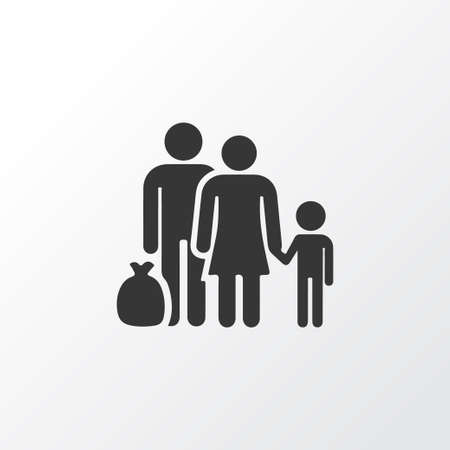 Refugee Icon Symbol. Premium Quality Isolated Fugitive Element In Trendy Style. Vectores