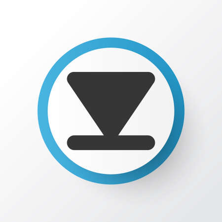 Arrow Down Icon Symbol. Premium Quality Isolated Bottom Element In Trendy Style. Illustration