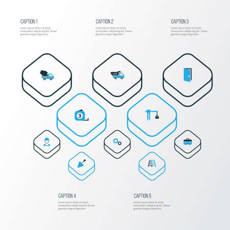 Collection Of Architecture Icons Set.