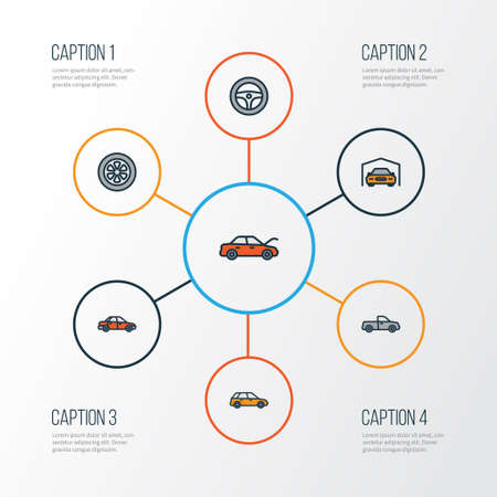 Infographic of Car Icons Set.