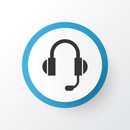 earphone: Premium Quality Isolated Earphone Element In Trendy Style. Headphone Icon Symbol.