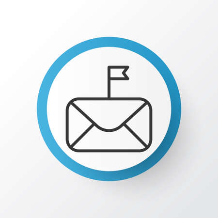 Important Mail Icon Symbol. Premium Quality Isolated Significant Element In Trendy Style.  Çizim