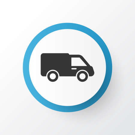 Lorry Icon Symbol. Premium Quality Isolated Truck Element In Trendy Style.
