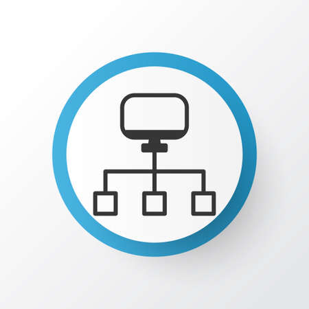Network Icon Symbol. Premium Quality Isolated Local Connection Element In Trendy Style. Illustration