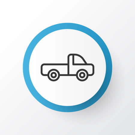 delivery truck: Premium Quality Isolated Vehicle Car Element In Trendy Style. Pickup Icon Symbol.