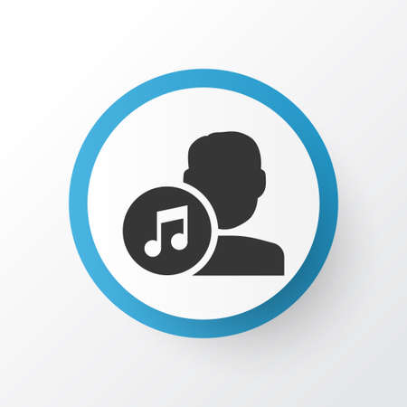 melodist: Artists Icon Symbol. Premium Quality Isolated Composer Element In Trendy Style.