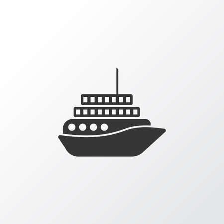 motorboat: Motorboat icon, isolated cruise element in trendy style. Illustration