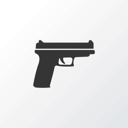 Gun Icon Symbol. Premium Quality Isolated Weapons Element In Trendy Style. Illustration