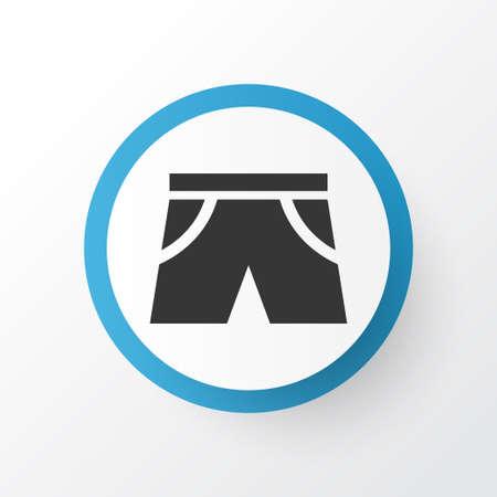 Shorts Icon Symbol. Premium Quality Isolated Smelting Element In Trendy Style. Illustration
