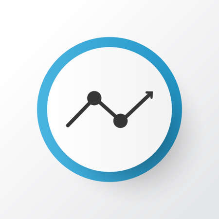 information analysis: Premium Quality Isolated Monitoring Element In Trendy Style.  Arrow Icon Symbol.